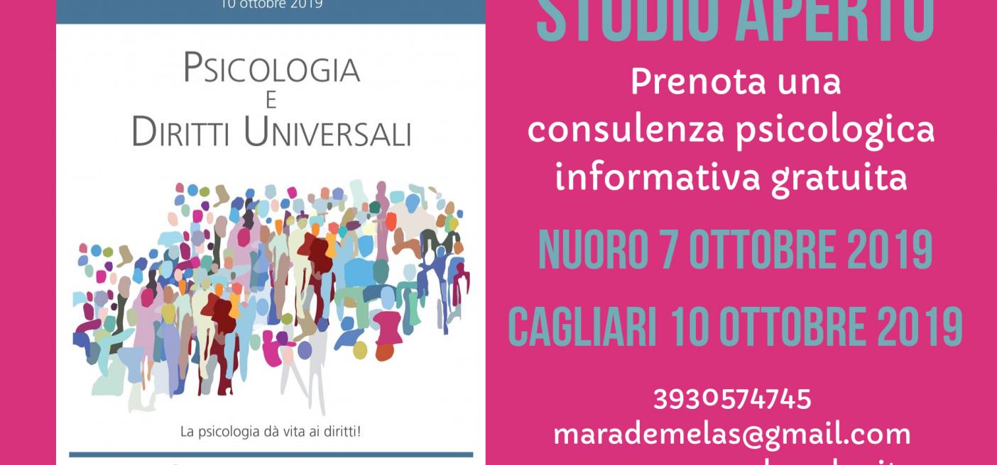 Giornata Nazionale della Psicologia 2019 - Nuoro e Cagliari