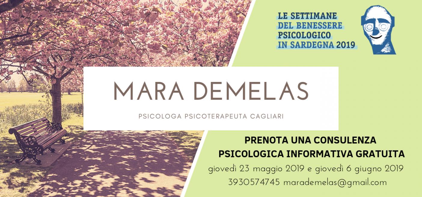 Settimane del Benessere Psicologico 2019 - Mara Demelas